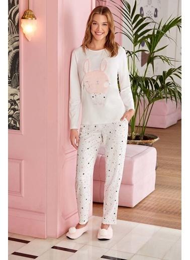 Pierre Cardin Pierre Cardin Kadın Pijama Takımı Ekru